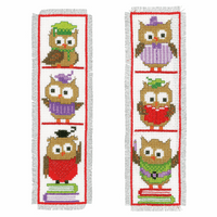 Counted Cross Stitch: Bookmarks: Clever Owls: Set of 2 By Vervaco