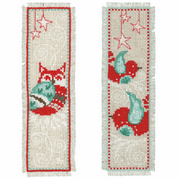 Counted Cross Stitch Kit: Bookmarks: Winter Scenes: (Set of 2) By Vervaco