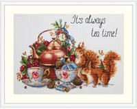 It's Always Tea Time Cross Stitch Kit By Merejka