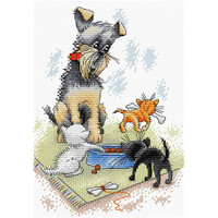 Dogs and Puppies Cross Stitch Kit by MP Studia