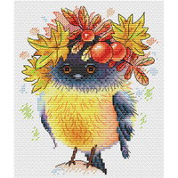 Autumn Bird Cross Stitch Kit by MP Studia