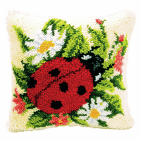 Latch Hook Kit: Cushion: Ladybird By Vercaco