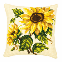 Latch Hook Kit: Cushion: Sunflowers By Vervaco