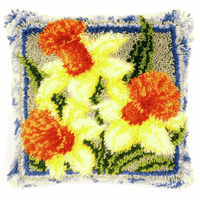 Latch Hook Kit: Cushion: Daffodils By Vervaco