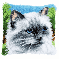 Latch Hook Kit: Cushion: Ragdoll By Vervaco