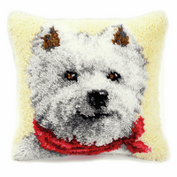 Latch Hook Kit: Cushion: West Highland Terrier By Vervaco