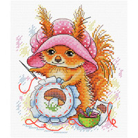 Ginger Embroideress Cross Stitch Kit by MP Studia