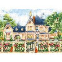 ENGLISH MANOR cross stitch kit by Andriana