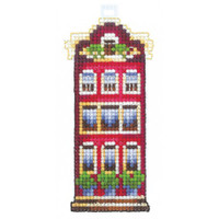 RED HOUSE cross stitch by Adriana