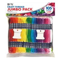 Jumbo pack of 105 Craft Threads
