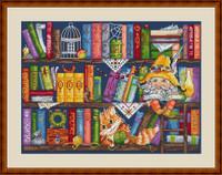 Bookshelf Cross Stitch Kit By Merejka