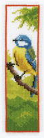 Counted Cross Stitch Kit: Bookmark: Blue Tit By Vervaco