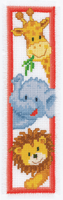 Counted Cross Stitch Kit: Bookmark: Zoo Animals By Vervaco