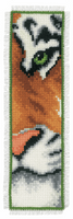 Counted Cross Stitch Kit: Bookmark: Tiger By Vervaco