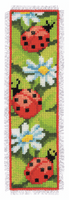 Counted Cross Stitch Kit: Bookmark: Ladybirds By Vervaco