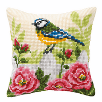 Cross Stitch Kit: Cushion: Blue Tit