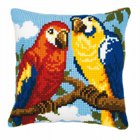 Cross Stitch Kit: Cushion: Parrots