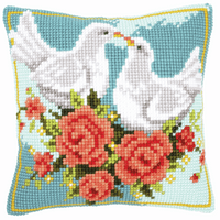Cross Stitch Kit: Cushion: White Doves