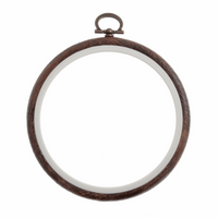 Dark Grain Wooden Flexi Hoop Size 4""
