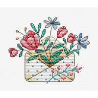 Flower letters Cross Stitch Kit by MP studia