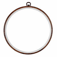Dark Wood Grain Flexi Hoop Size 5""