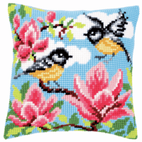 Cross Stitch Kit: Cushion: Blue Tits