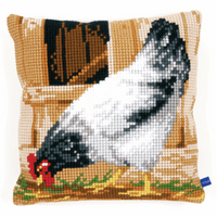 Cross Stitch Kit: Cushion: Grey Hen