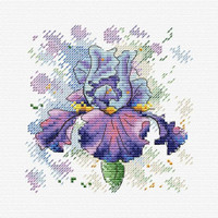 Lush Iris Cross Stitch Kit Mp Studia