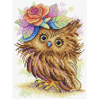 Charming Owl Cross stitch Kit by Mp Studia