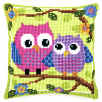 Cross Stitch Kit: Cushion: Owls By Vervaco