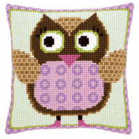 Cross Stitch Kit: Cushion: Miss Owl By Vervaco