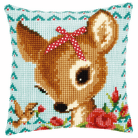 Cross Stitch Kit: Cushion: Bambi with a Bow By Vervaco