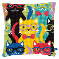 Cross Stitch Kit: Cushion: Funny Cats By Vervaco