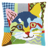 Cross Stitch Kit: Cushion: Modern Cat