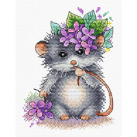 Little Mouse Cross Stitch Kit by MP studia
