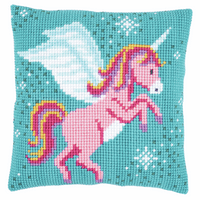 Cross Stitch Kit: Cushion: Unicorn By Vervaco