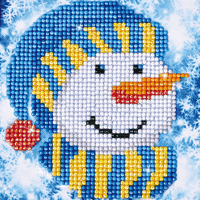 Diamond Painting Kit: Snowman Cap