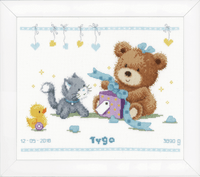 Counted Cross Stitch Kit: Bear & Present by Vervaco