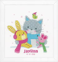 Counted Cross Stitch Kit: Best Friends by Vervaco