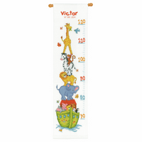 Counted Cross Stitch Kit: Height Chart: Noah's Ark by Vervaco
