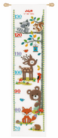 Counted Cross Stitch Height Chart: Forest Animals II by Vervaco