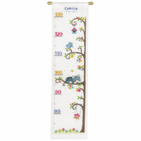 Counted Cross Stitch Kit: Height Chart: Cat in the Tree by Vervaco