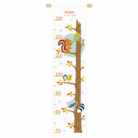 Counted Cross Stitch: Kit: Height Chart: Animals in Tree by Vervaco