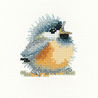 Chirpy Cross Stitch Coaster Kit by Heritage