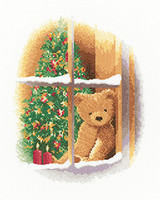 William at Christmas Cross Stitch Kit on Aida by Heritage