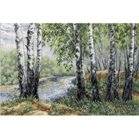 In the Birch Shadow Cross Stitch Kit by Mp Studia