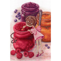 Berry Jam Fairy Cross Stitch Kit by Mp studia