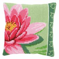 Cross Stitch Kit: Cushion: Pink Lotus Flower By Veravco