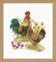 Counted Cross Stitch Kit: Chicken Family By Vervaco