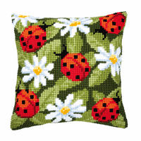 Cross Stitch Kit: Cushion: Ladybird By Vervaco